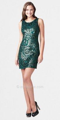 Aidan Mattox Short Beaded Dresses