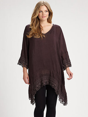 Johnny Was Johnny Was, Salon Z Embroidered Georgettet Tunic