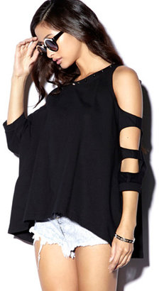 Forever 21 Cutout French Terry Pullover