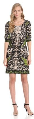 Donna Morgan Women's Mirror Printed Matte Jersey Dress