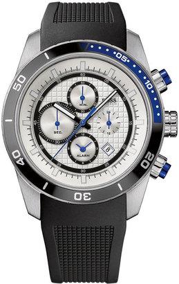 HUGO BOSS Watch, Men's Chronograph Black Rubber Strap 1512660