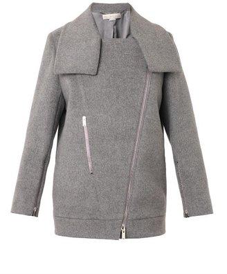 Stella McCartney Fernanda wool biker jacket