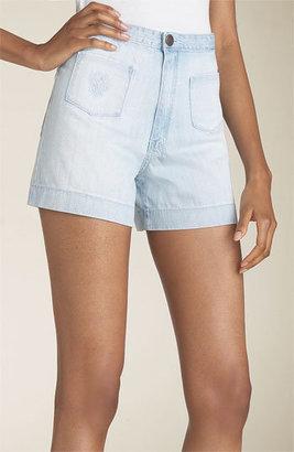 18th Amendment 'Davis' High Waist Stretch Denim Shorts