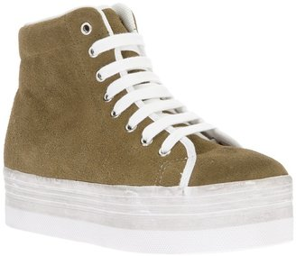 Jeffrey Campbell 'Homg Suede Wash' wedge trainer