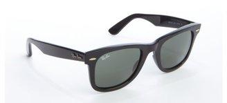 Ray-Ban black acrylic 'Wayfarer' sunglasses