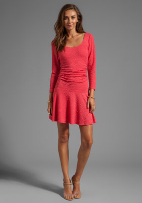 Tracy Reese Stretch Cloque Fit and Flare Dress