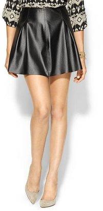 BCBGeneration Pleated Vegan Leather Skirt
