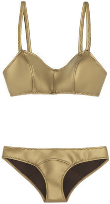 Lisa Marie Fernandez The Genevieve metallic rubber neoprene bikini