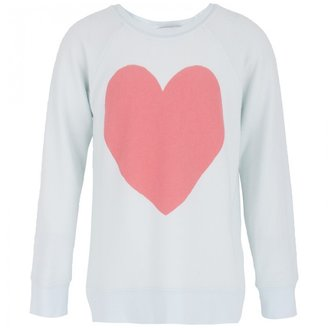 Wildfox Couture Turquoise Heart Sweatshirt