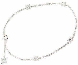 "Diamonique 9"" Ankle Bracelet, Platinum Clad"