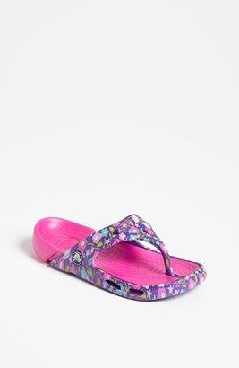 Crocs 'Electro Butterfly' Flip Flop (Walker, Toddler & Little Kid) Neon Purple/ Neon Magenta 6/7 M