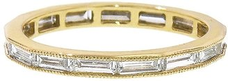 Channel Set Baguette Band Ring - Yellow Gold