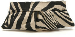 Lauren Merkin EVE ANIMAL PRINT LINEN, ZEBRA