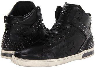 Converse by John Varvatos - Weapon Mid - Cone Studs (Black/Turtledove) - Footwear