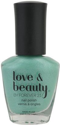 Forever 21 Love 21 Mint Shimmer Nail Polish