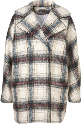 Topshop Check Cocoon Jacket