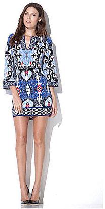 Laundry by Shelli Segal Border-Print Tunic Dress