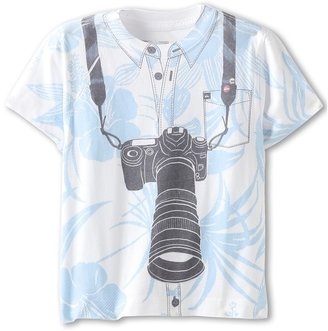 Quiksilver Document S/S Tee (Toddler/Little Kids) (White) - Apparel