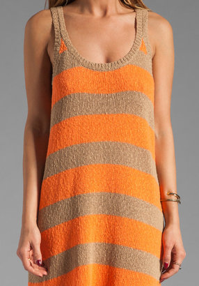 American Vintage Sawyer Tank Top Dress in Make Up/Fluo