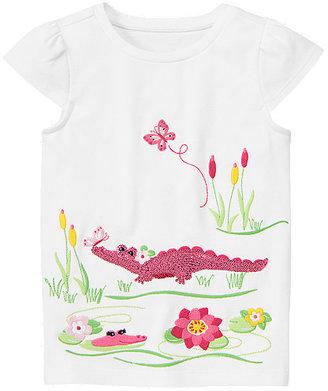 Gymboree Sequin Crocodile Pond Tee
