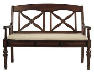 Home Decorators Collection Brimfield 50 in. W Deluxe Bench in Chestnut/Grey