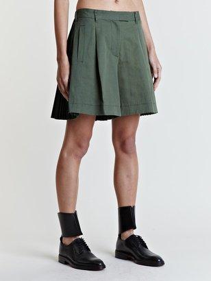 Sacai Women's Rear Pleated Shorts