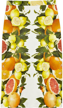 Stella McCartney Citrus-print cotton skirt