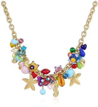 Antica Murrina Marilena - Murano Glass Marine Gold Plated Necklace $168 thestylecure.com