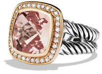 David Yurman Albion Ring with Morganite, Diamonds, and Rose Gold $2,150 thestylecure.com
