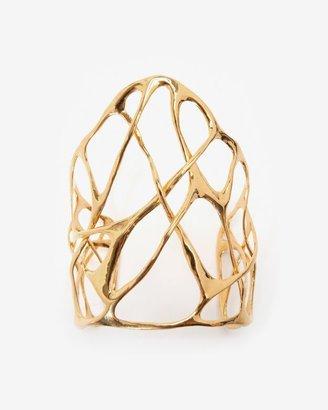 Alexis Bittar Liquid Gold Interlaced Cuff Bracelet