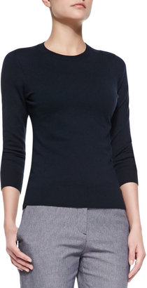 Theory Mirzi Banded-Trim Knit Sweater