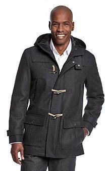 Nautica Men's Charcoal Toggle Coat