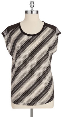 Vince Camuto TWO BY Striped Tank with Tie Detail