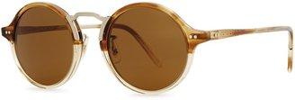 Oliver Peoples Kosa Transparent Devore Round-frame Sunglasses