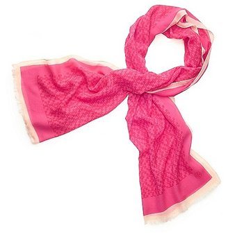 """Tory Burch Allover """"t"""" Printed Scarf"""