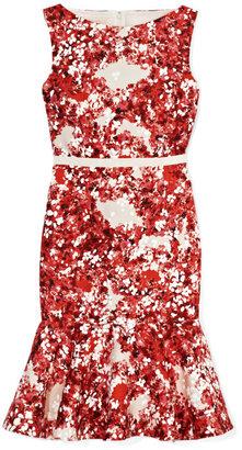 Giambattista Valli Printed Red Dress