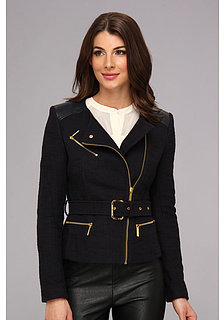 MICHAEL Michael Kors Tweed Moto Jacket w/ Leather