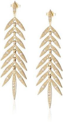 Mizuki 14Kt Post Long Link Small Diamond Earrings (.47Ct)