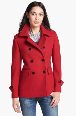 Calvin Klein Textured Wool Blend Peacoat