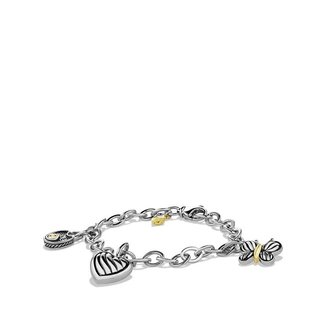 David Yurman Cable Kids Charm Bracelet with Gold