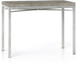 Crate & Barrel Concrete Top/ Zinc X-Base 48x28 High Dining Table