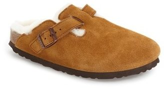 Women's Birkenstock 'Boston' Genuine Shearling Lined Clog $164.95 thestylecure.com