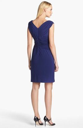 Adrianna Papell Asymmetrical Ruched Jersey Dress
