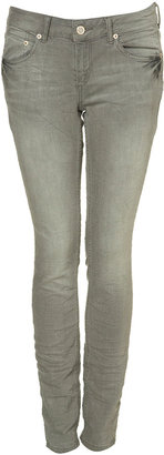 Topshop Grey Skinny Baxter Jeans
