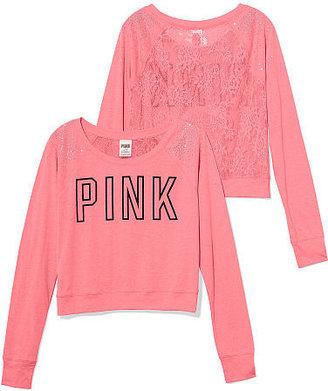 Victoria's Secret PINK Lace-back Raglan