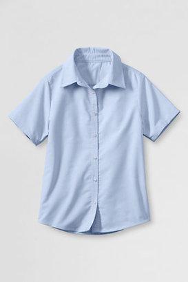 Lands' End NQP Girls' Short Sleeve Oxford Shirt
