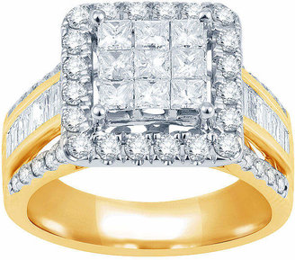 MODERN BRIDE 2 CT. T.W. Diamond 10K Yellow Gold Engagement Ring