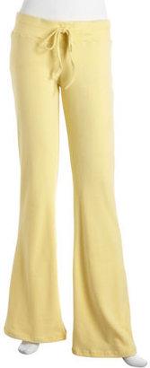 Neiman Marcus Wide-leg Pants, Yellow