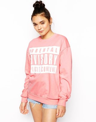 Asos Sweatshirt with Parental Advisory