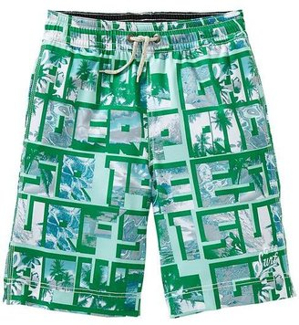 Gap Surf typography stretch swim trunks